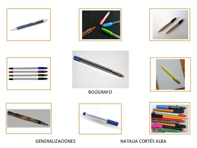 GENERALIZACIONES NATALIA CORTÉS ALBA BOLÍGRAFO