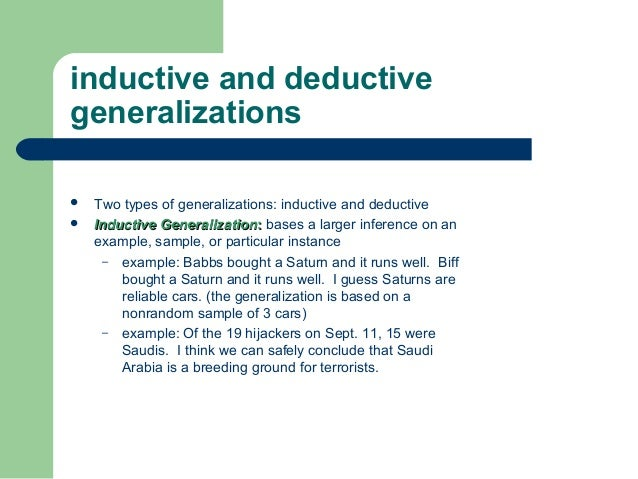 Generalization And Example