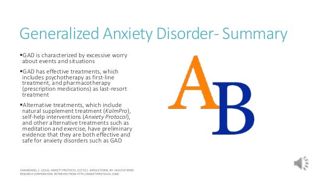 Generalized Anxiety Natural Treatments