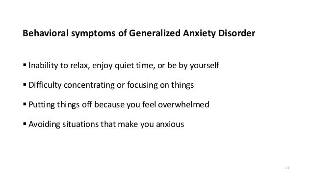 how to explain generalized anxiety disorder to someone