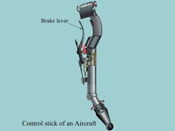 Control stick of an Aircraft Brake lever
