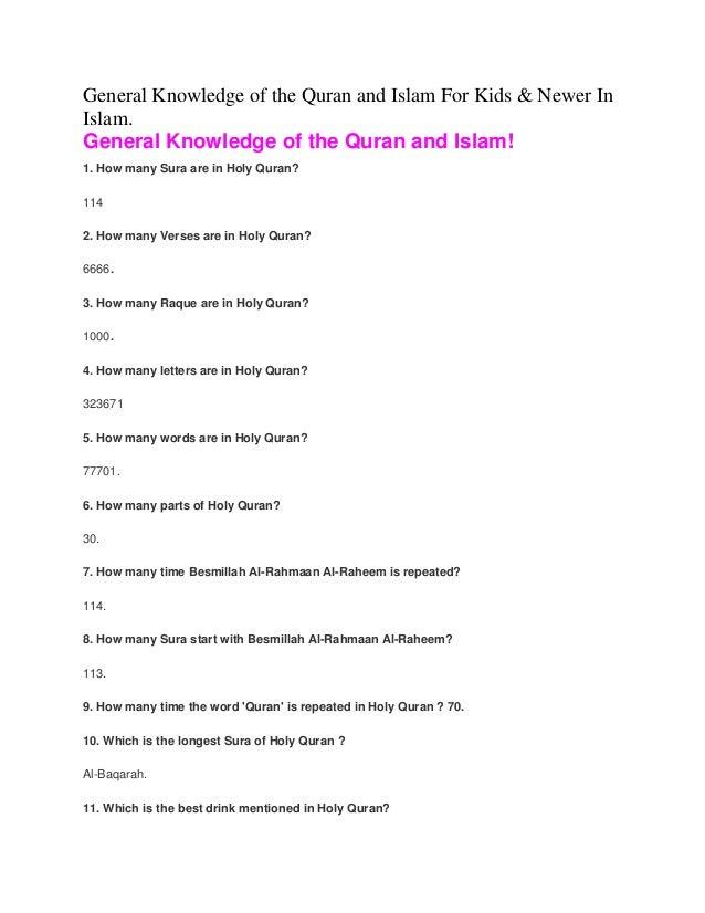 General Knowledge Quiz 2014 Pdf