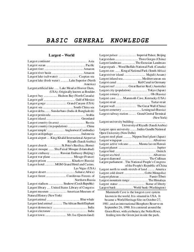 ocean general knowledge pdf