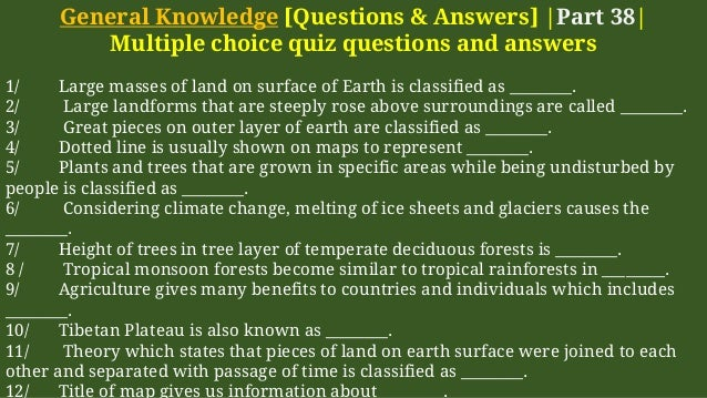 General knowledge   Questions & Answers gk part 38-MCQs