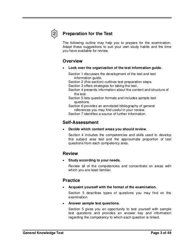 florida teacher certification test general knowledge essay