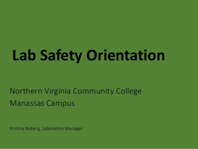 Nvcc Manassas Campus Map.General Lab Safety Rules Nvcc Manassas