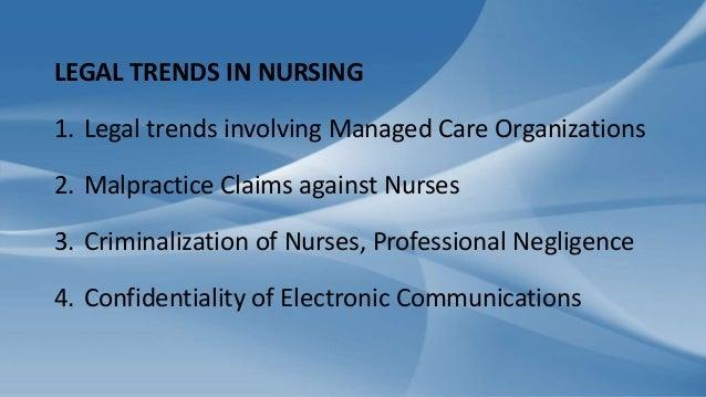 General Legal Concepts in Nursing