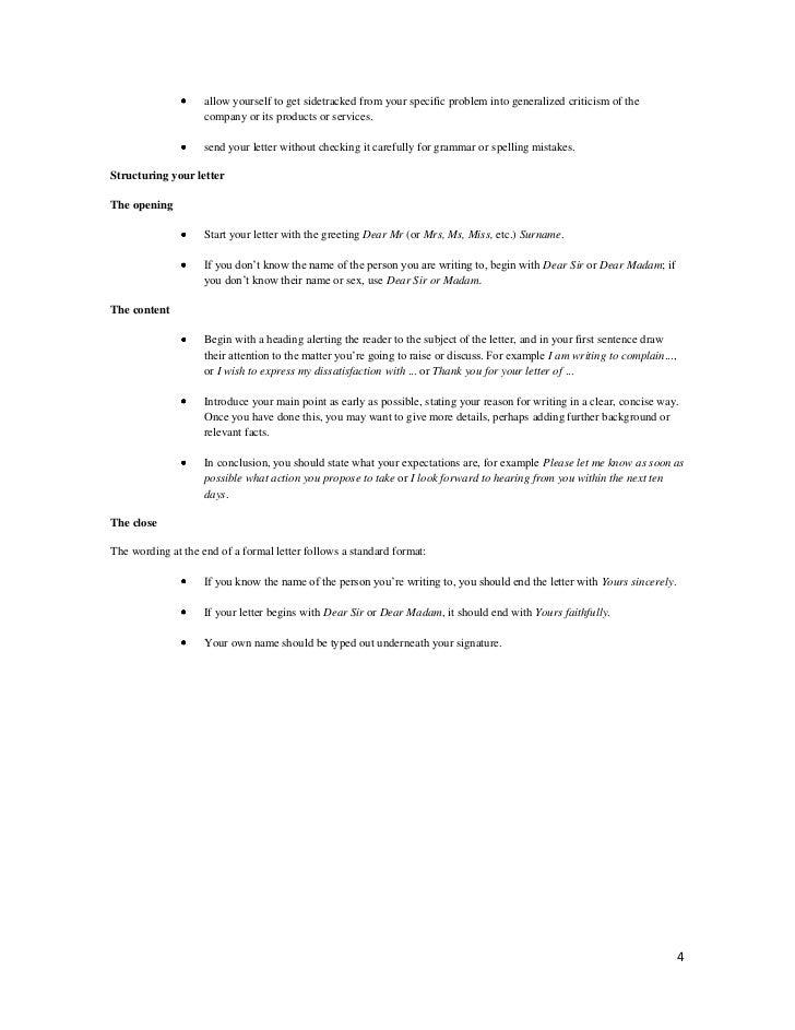 letter to principal regarding canteen