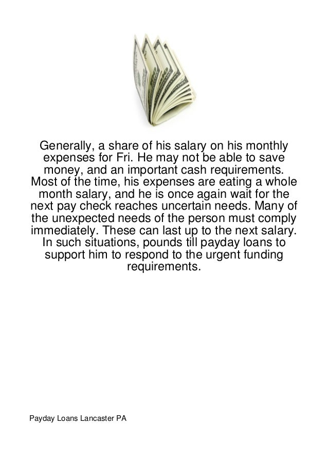 Generally, a share of his salary on his monthly  expenses for Fri. He may not be able to save   money, and an important ca...