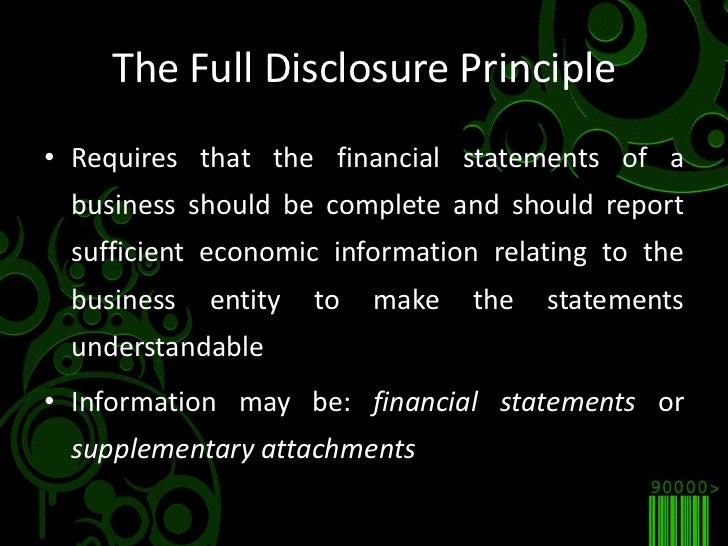 what is the full disclosure principle in accounting