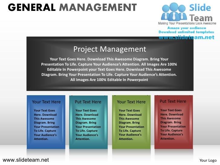 General Management Powerpoint Presentation Templates