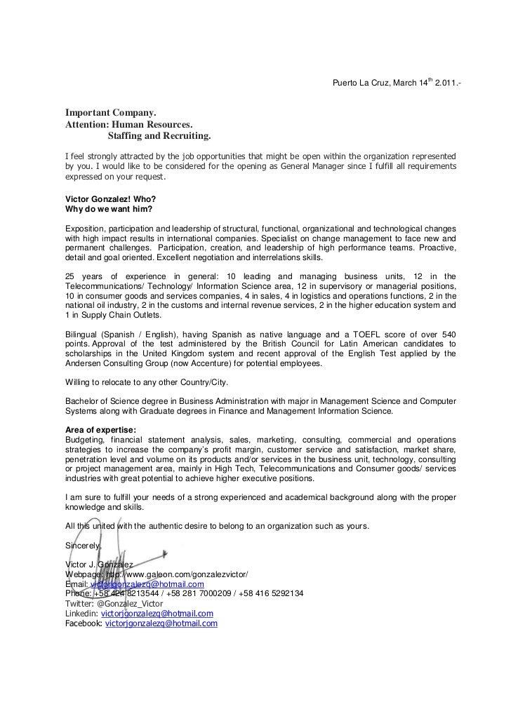 victor gonzalez professional presentation letter
