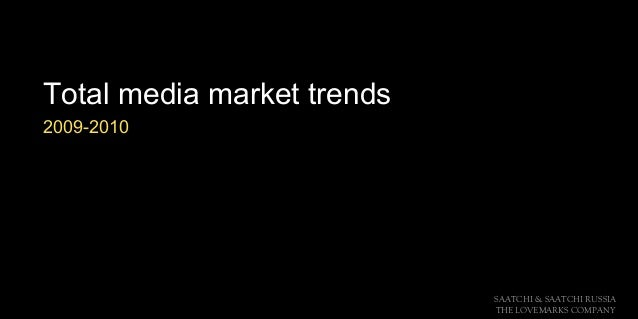SAATCHI & SAATCHI RUSSIA THE LOVEMARKS COMPANY Total media market trends 2009-2010
