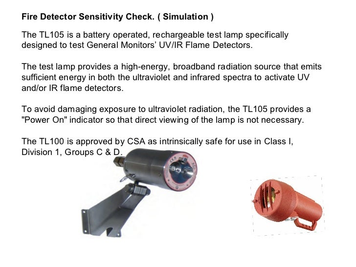 General Monitors Flame Detectors Scp