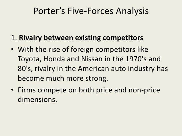 porter five forces analysis of gm Kewords: organic food, gm food, polog region, porter's five forces, competitive   the analysis should be able to reveal a strategy and an action plan with.