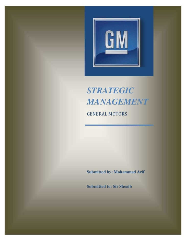 General Motors Strategic Mangement
