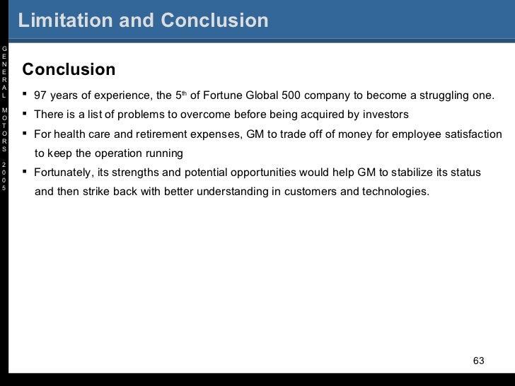 General Motors 2005 Crisis And Way Out