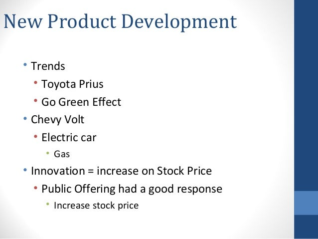 General motors new product and process innovation for General motors pricing strategy