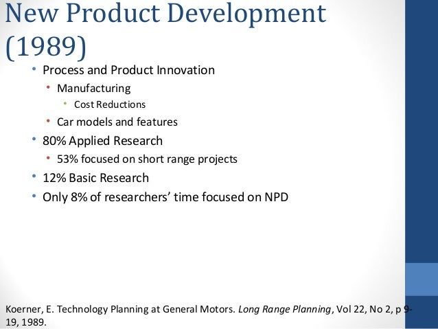 General motors new product and process innovation for Innovative product development companies