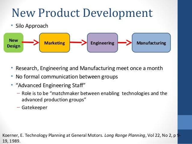 General motors new product and process innovation for Product development and design for manufacturing