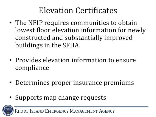 Lowest Floor Elevation Inspection : Introduction to the national flood insurance program