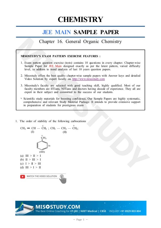 General organic chemistry jee notes