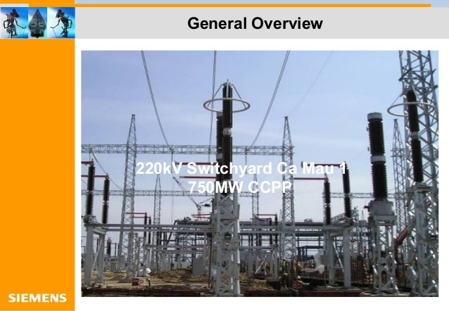 General Overview 220kV Switchyard Ca Mau 1 750MW CCPP