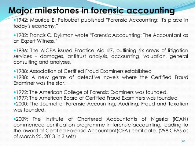 invaluable service of forensic accountant