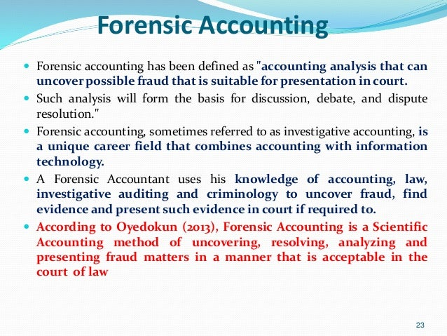 general overview of forensic accounting and forensic audit