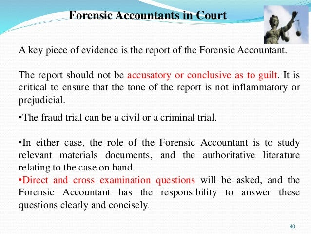overview of forensic accounting essay Open document below is a free excerpt of forensic accounting essay from anti essays, your source for free research papers, essays, and term paper examples.