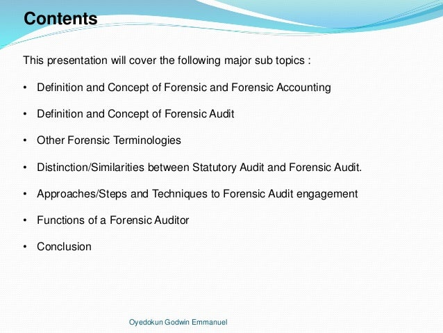 forensic accounting term paper A 5 page paper discussing forensic accounting, what it is, why there is a need for forensic accountants, what they are trained to do, how they go about it, as well as.