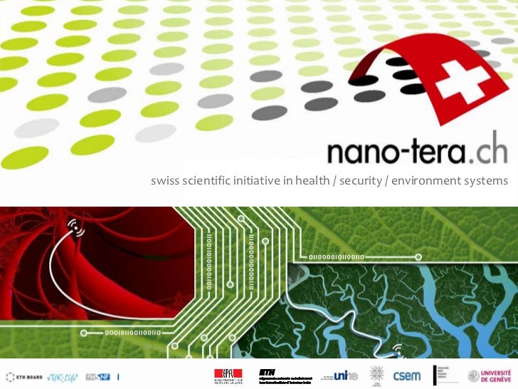 swiss scientific initiative in health / security / environment systems                                                  1