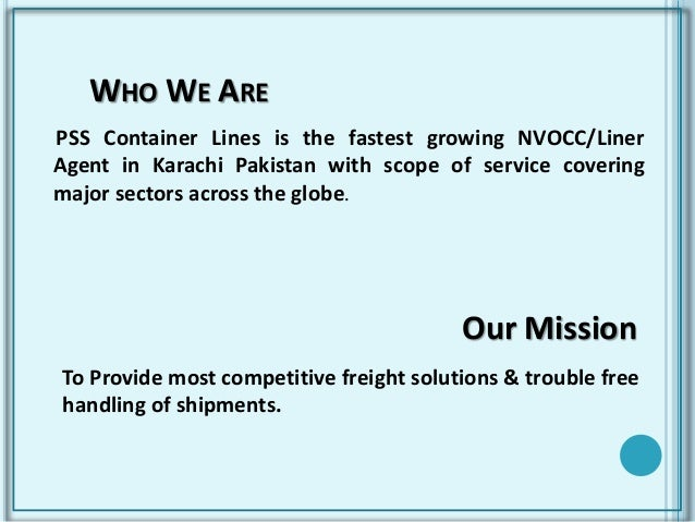 NVOCC-FREIGHT FORWARDING-PSS Container Lines