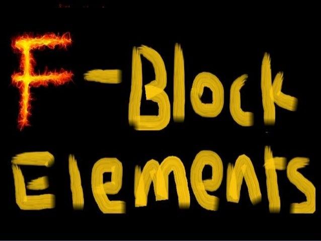 f block elements properties pdf