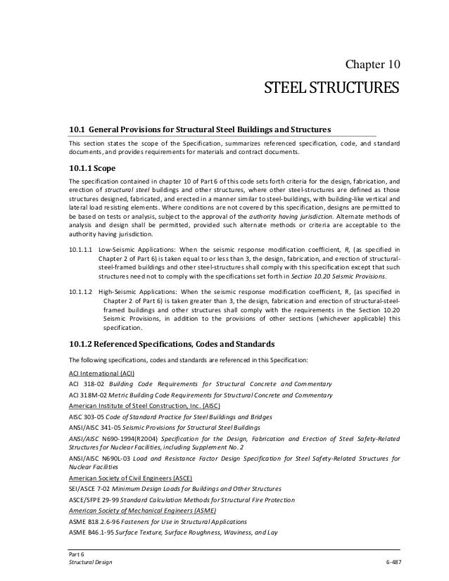 General provisions for structureal steel building and structure (bnb…