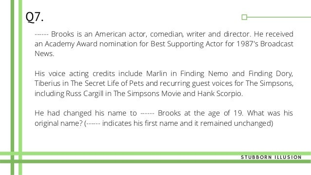 ------ Brooks is an American actor, comedian, writer and director. He received an Academy Award nomination for Best Suppor...