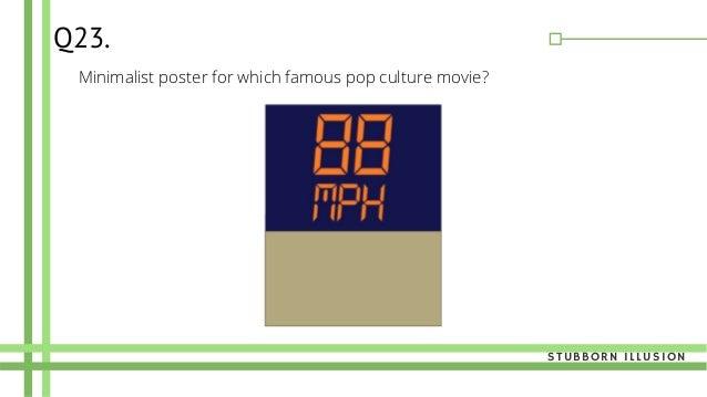 Minimalist poster for which famous pop culture movie? Q23. STUBBORN ILLUSION