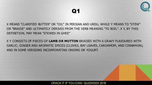 Quizweek 2018 - IIT Guwahati - Crack It If You Can (The