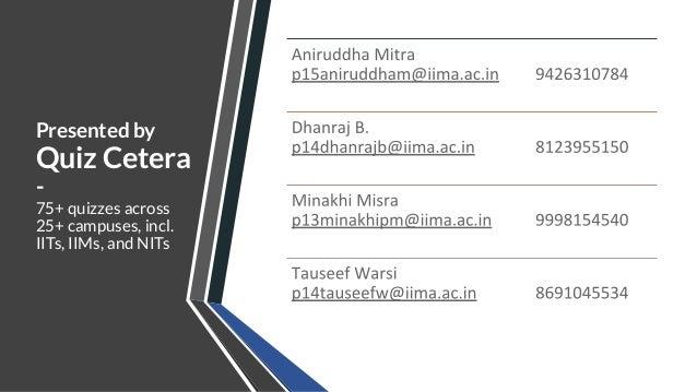 General Quiz Finals - IIM Ahmedabad Chaos 2020 - by Quiz Cetera Slide 2