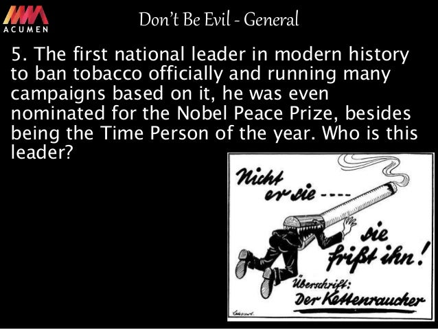Don't be Evil- Quizzing Extravaganza- General Quiz
