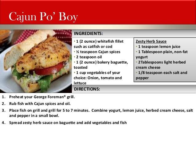 George foreman grill recipes for George foreman grill fish