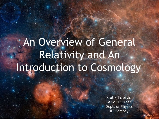 Introduction to Cosmology - Spring 2010