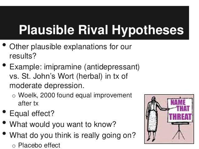 ruling out rival hypotheses