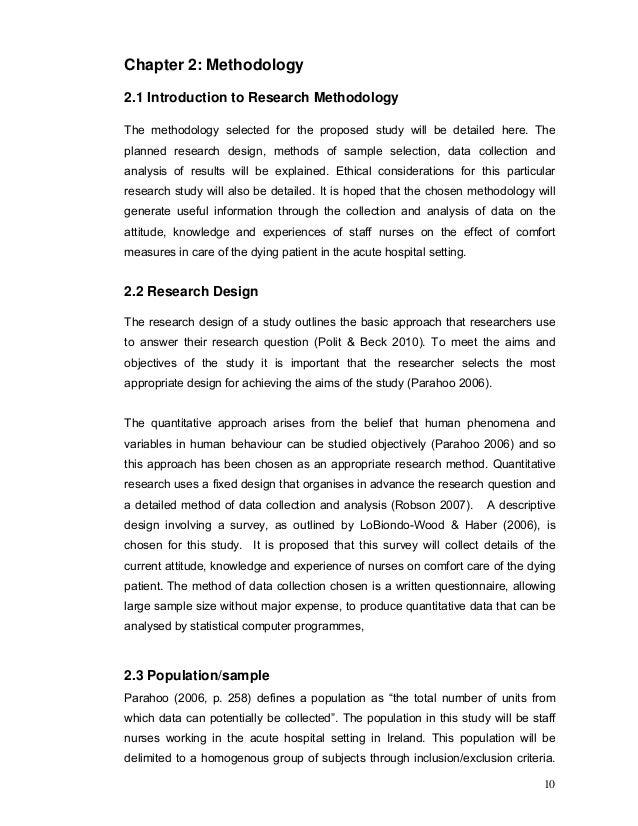 phenomenological research proposal
