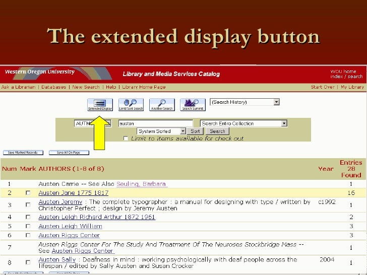 The extended display button