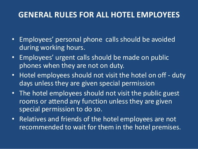 Dos amp Donts of Hotel Housekeeping Department