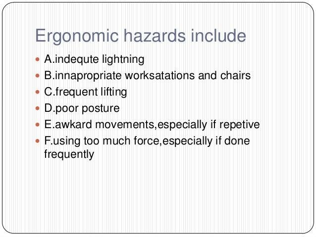 Ergonomic Hazard Sign ...