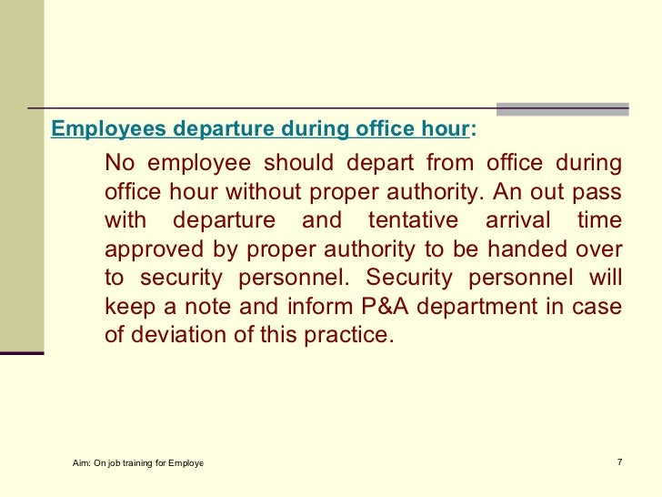 General security order for office or facilities 6 7 employees departure during office hour spiritdancerdesigns Images