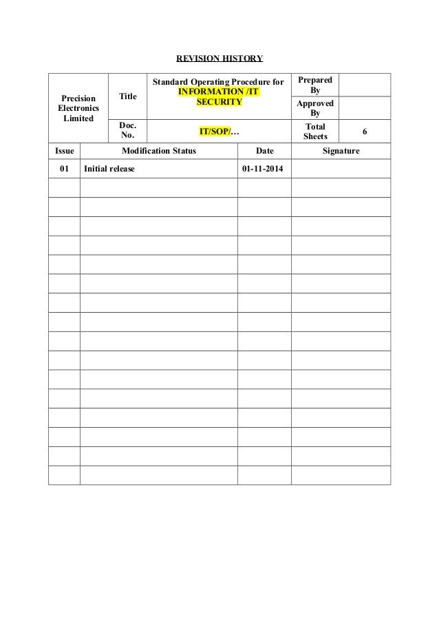 Sop Templates Pdf Created With Raphal Customs Logistics Operational