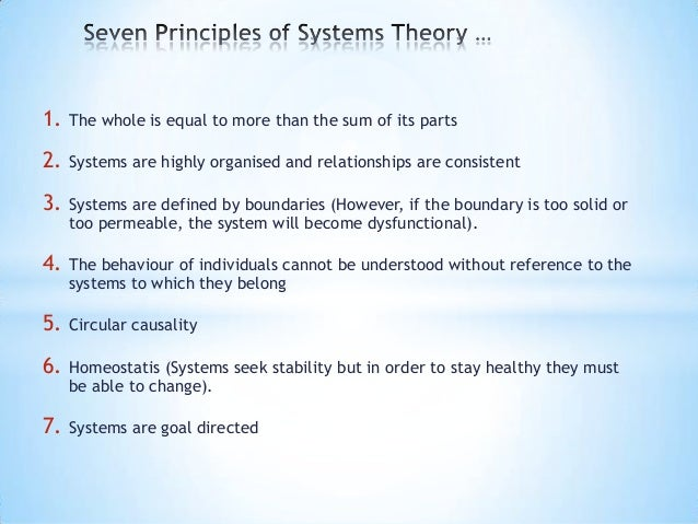 systems theory Systems theorists see common principles in the structure and operation of  systems of all kinds and sizes they promote an interdisciplinary science adapted  for.